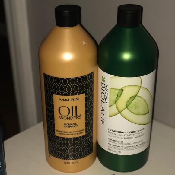 Matrix Oil Wonders Micro Oil Shampoo 1L + Conditioner 1L +